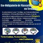 ✅ ORDENANZA MUNICIPAL SOBRE EL USO OBLIGADO DE MASCARILLA EN TREHUACO.