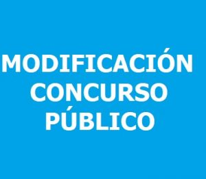 Modificación concurso público
