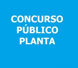 CONCURSO PÚBLICO PLANTA